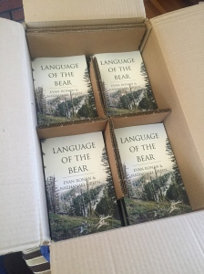 The first shipment of finalized paperback editions of Language of the Bear